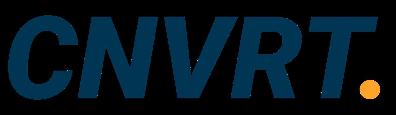 Tekstueel logo CNVRT.